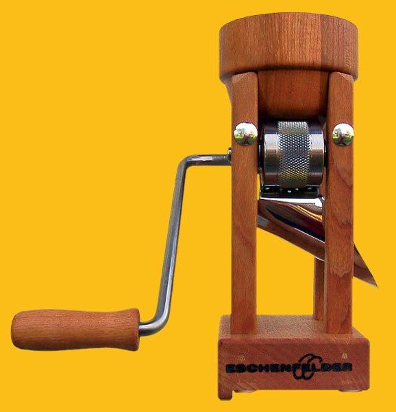 Eschenfelder Flockenquetsche Tischmodell mit Holztrichter