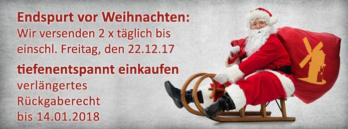 Rückgaberecht Weihnachten bei getreidemuehlen.de